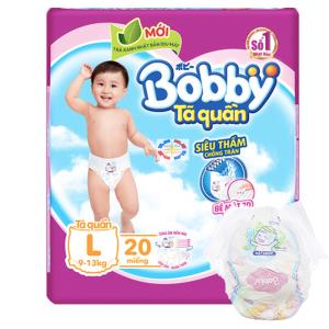Tã quần Bobby size L 20 miếng (cho bé 9 - 13kg)