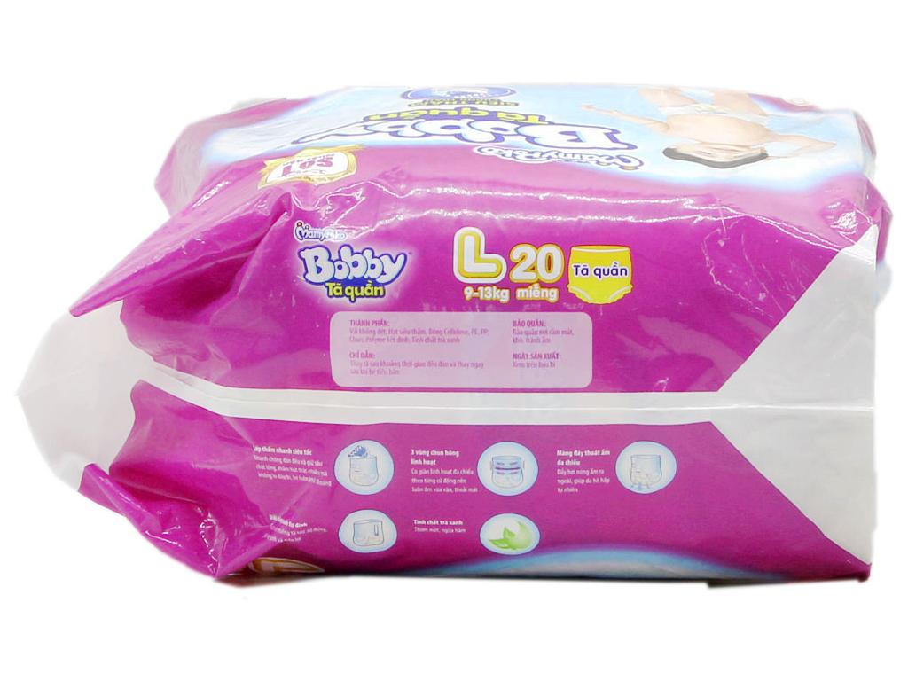 Tã quần Bobby size L 20 miếng (cho bé 9 - 13kg) 3