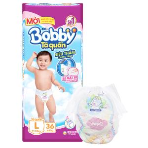 Tã quần Bobby size L 36 miếng (cho bé 9 - 13kg)