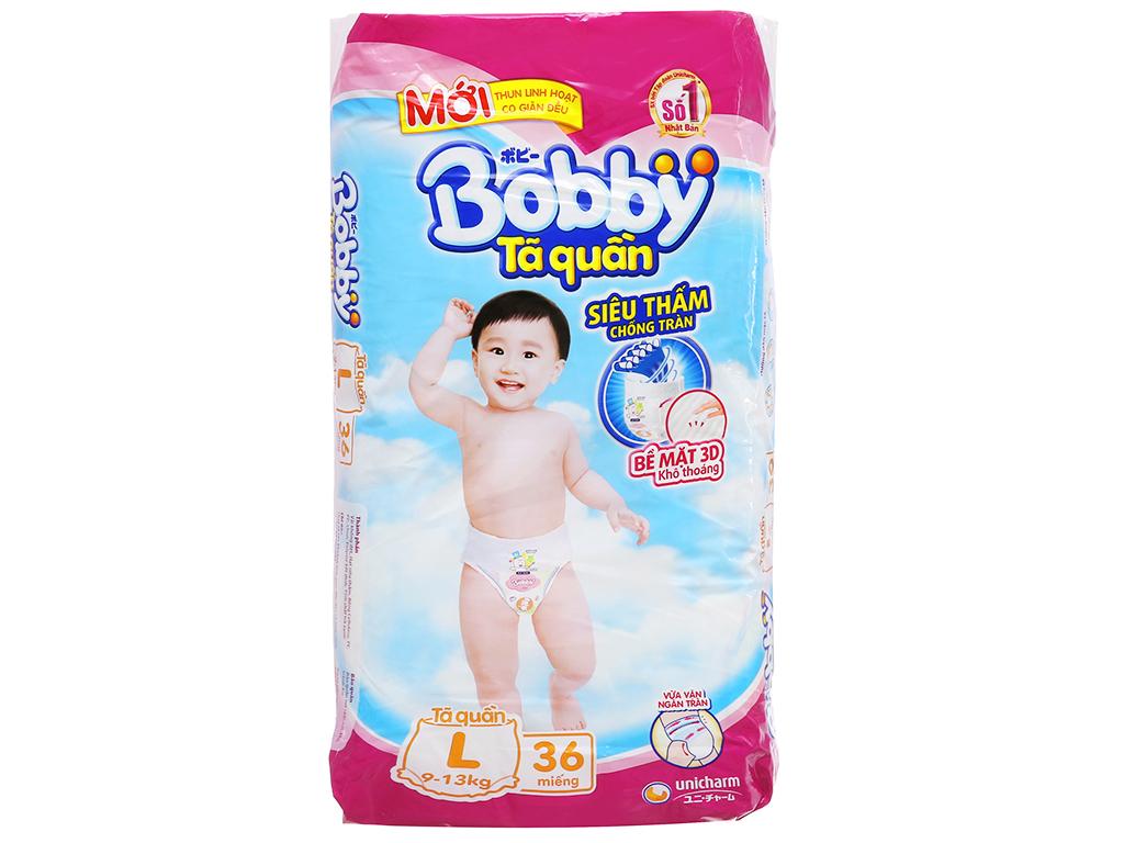 Tã quần Bobby size L 36 miếng (cho bé 9 - 13kg) 1