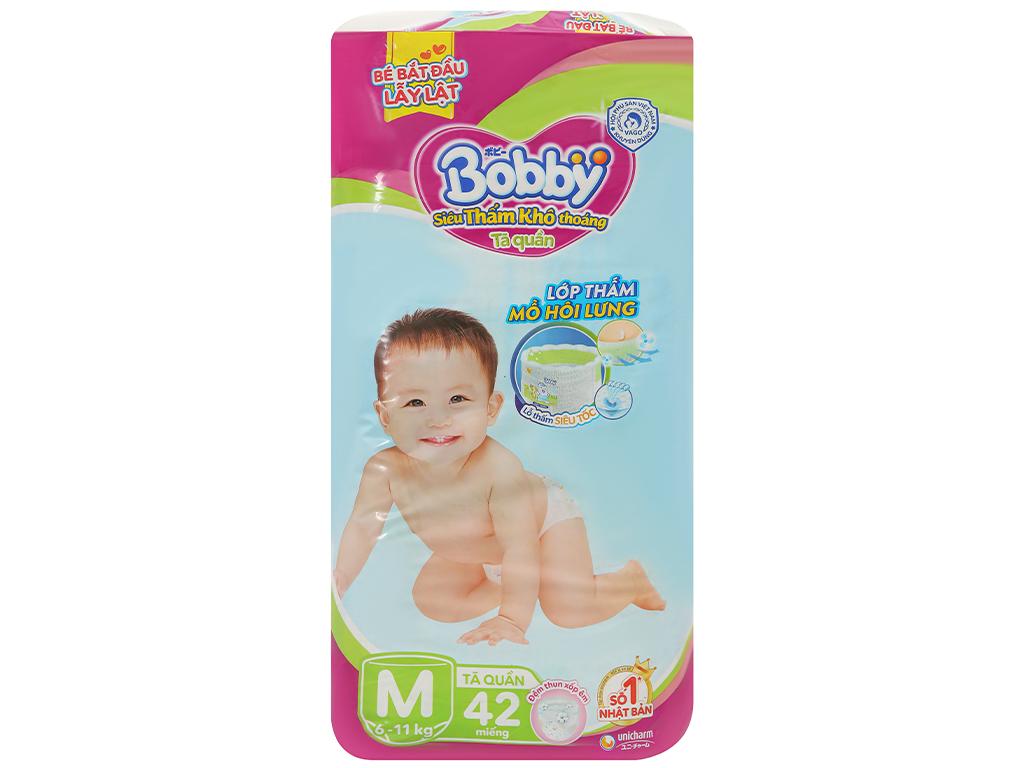Tã quần Bobby size M 42 miếng (cho bé 6 - 11kg) 1