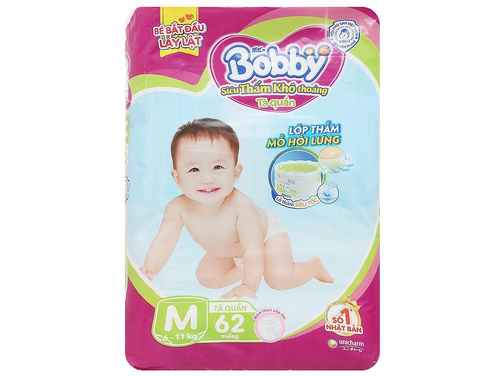 Tã quần Bobby size M 62 miếng (cho bé 6 - 10kg) 1