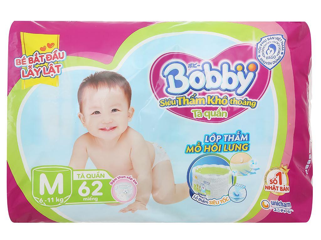 Tã quần Bobby size M 62 miếng (cho bé 6 - 10kg) 2