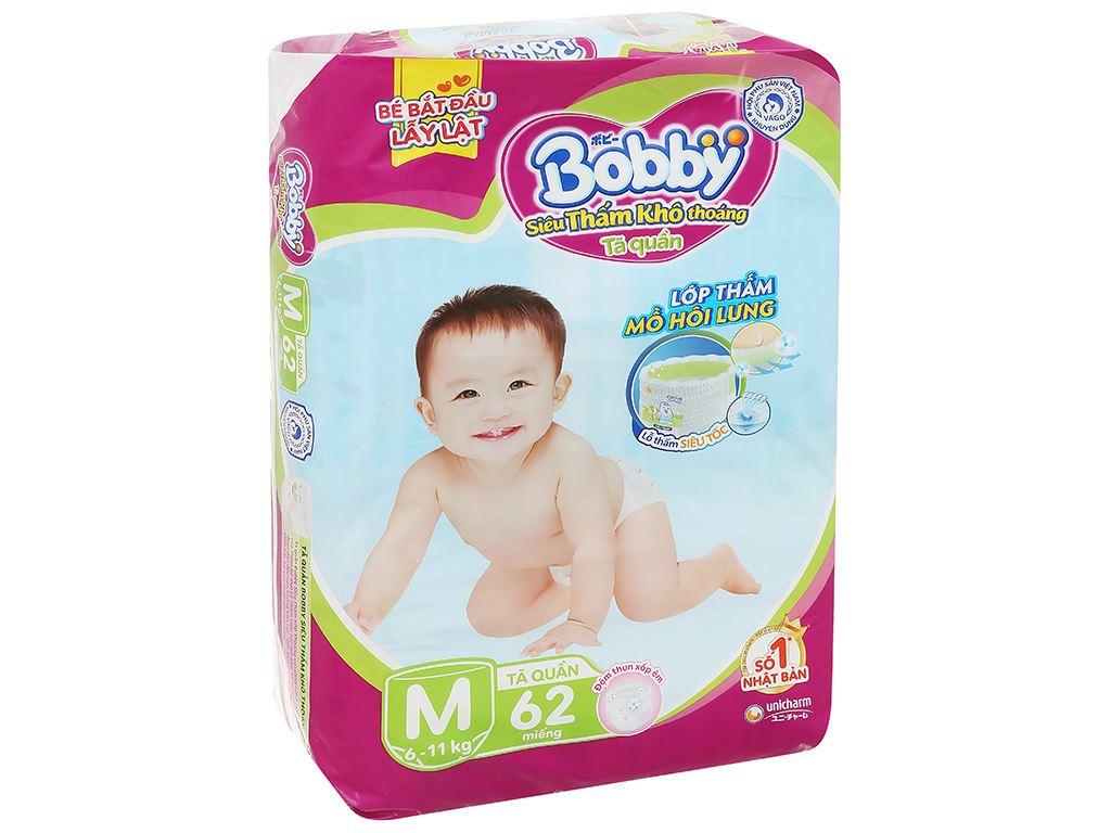 Tã quần Bobby size M 62 miếng (cho bé 6 - 10kg) 3