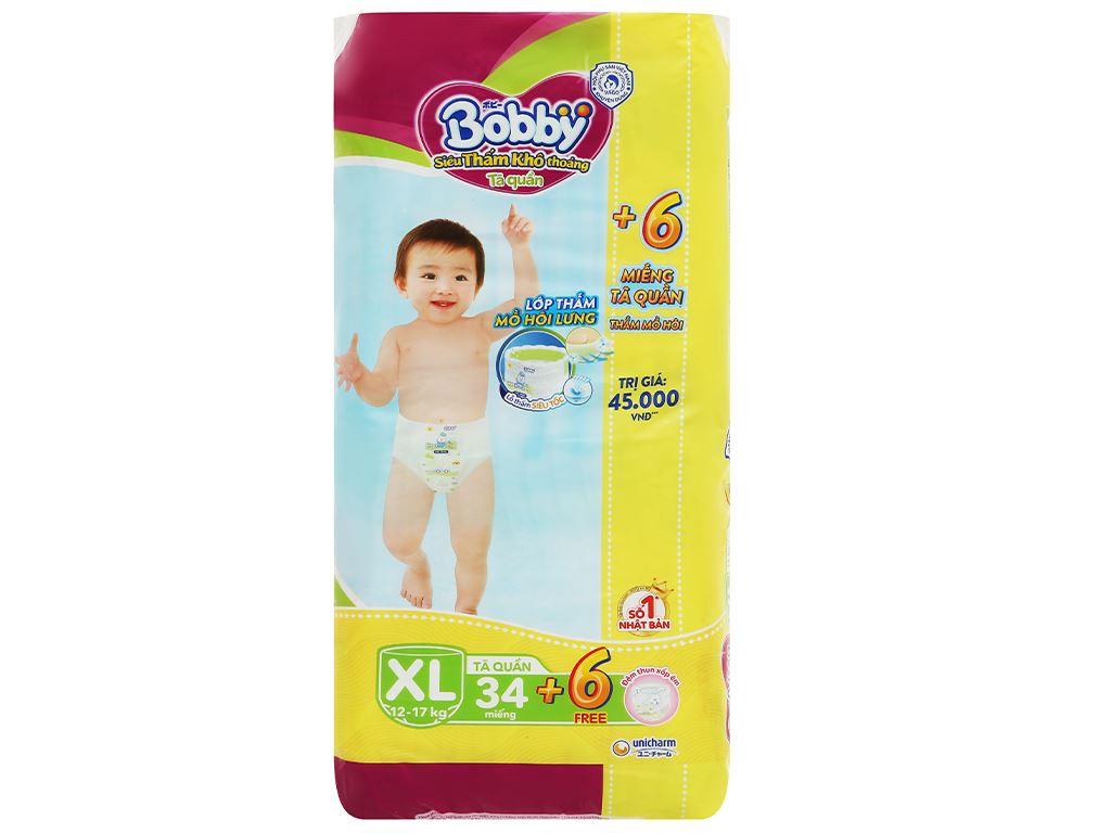 Tã quần Bobby size XL 34 miếng (cho bé 12 - 17kg) 1