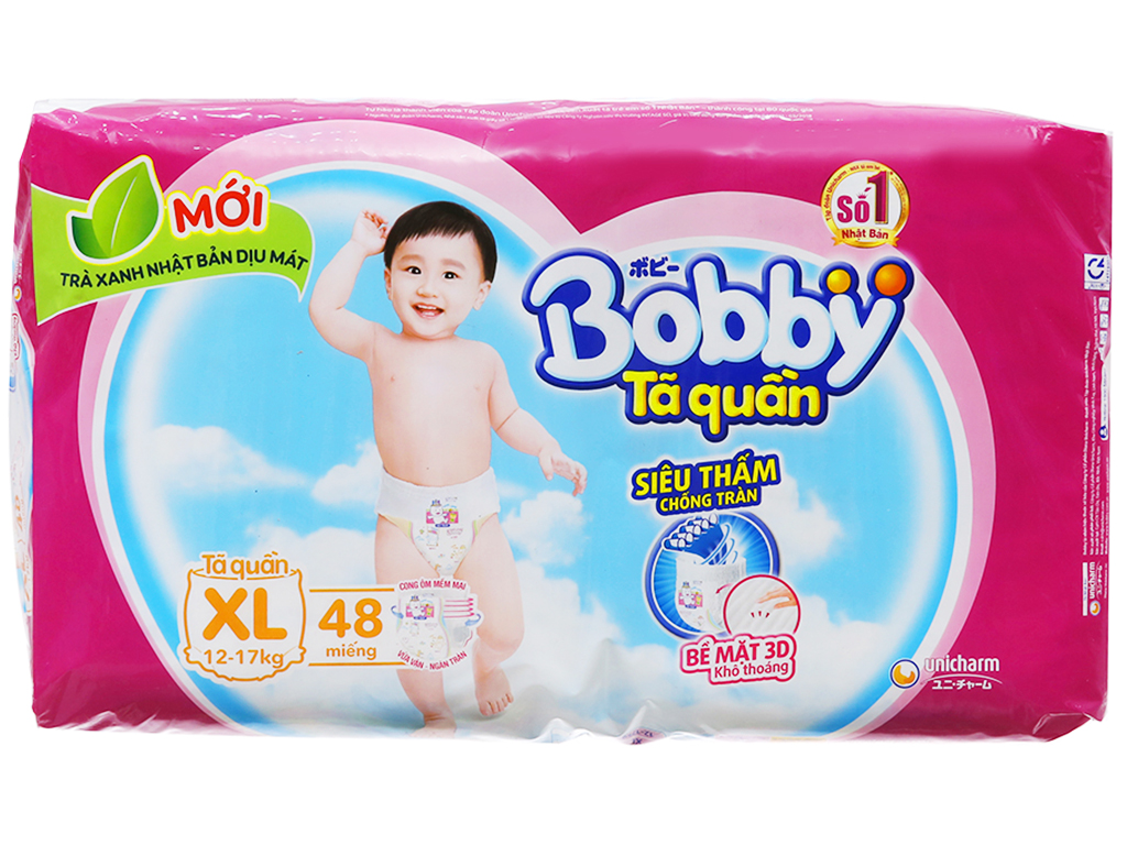 Tã quần Bobby size XL 48 miếng (cho bé 12 - 17kg) 2