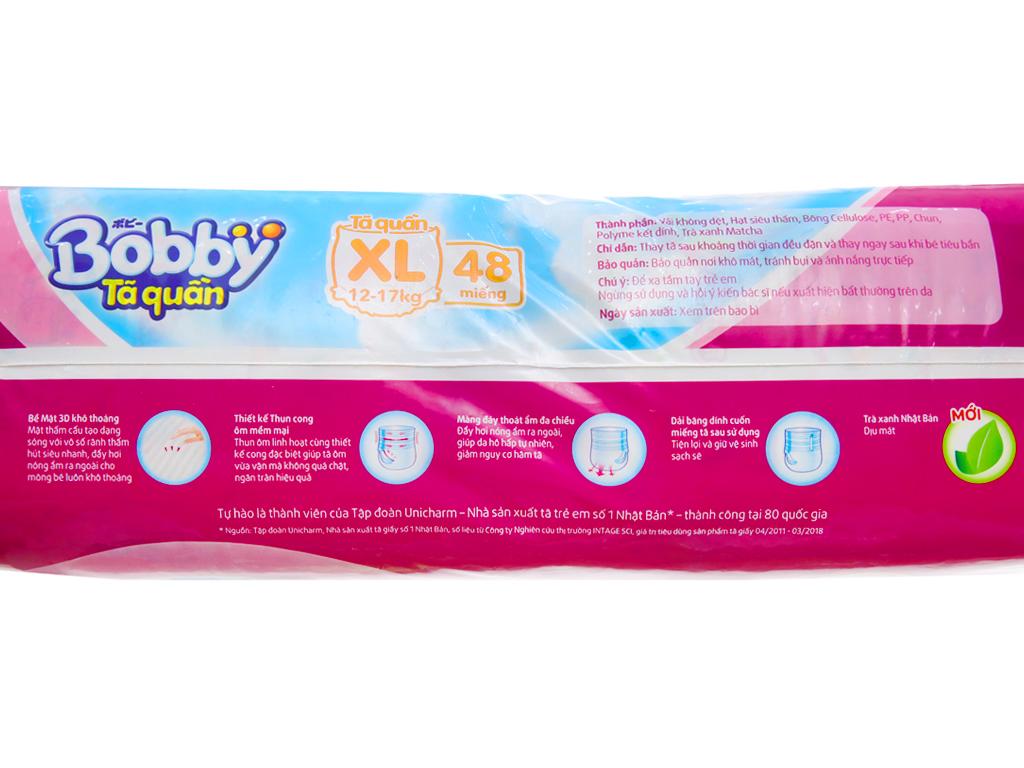 Tã quần Bobby size XL 48 miếng (cho bé 12 - 17kg) 3