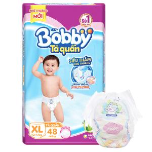 Tã quần Bobby size XL 48 miếng (cho bé 12 - 17kg)