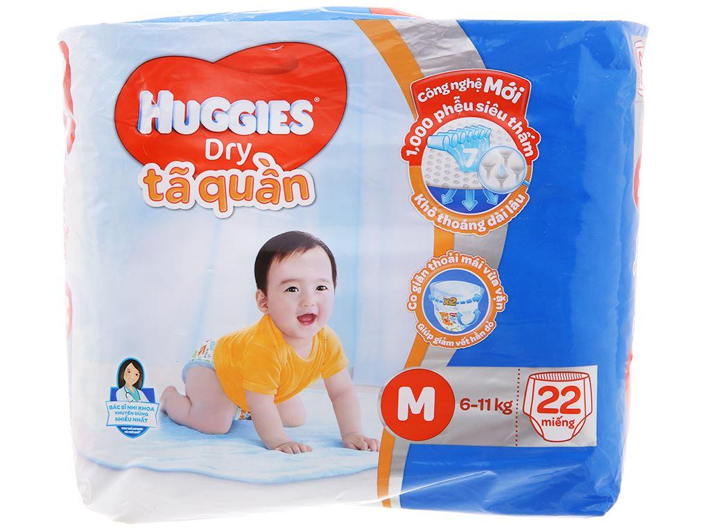 Tã quần Huggies Dry size M 22 miếng (cho bé 6 - 11kg) 1