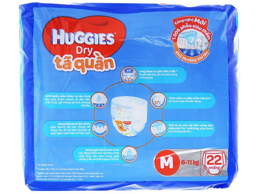 Tã quần Huggies Dry size M 22 miếng (cho bé 6 - 11kg) 2