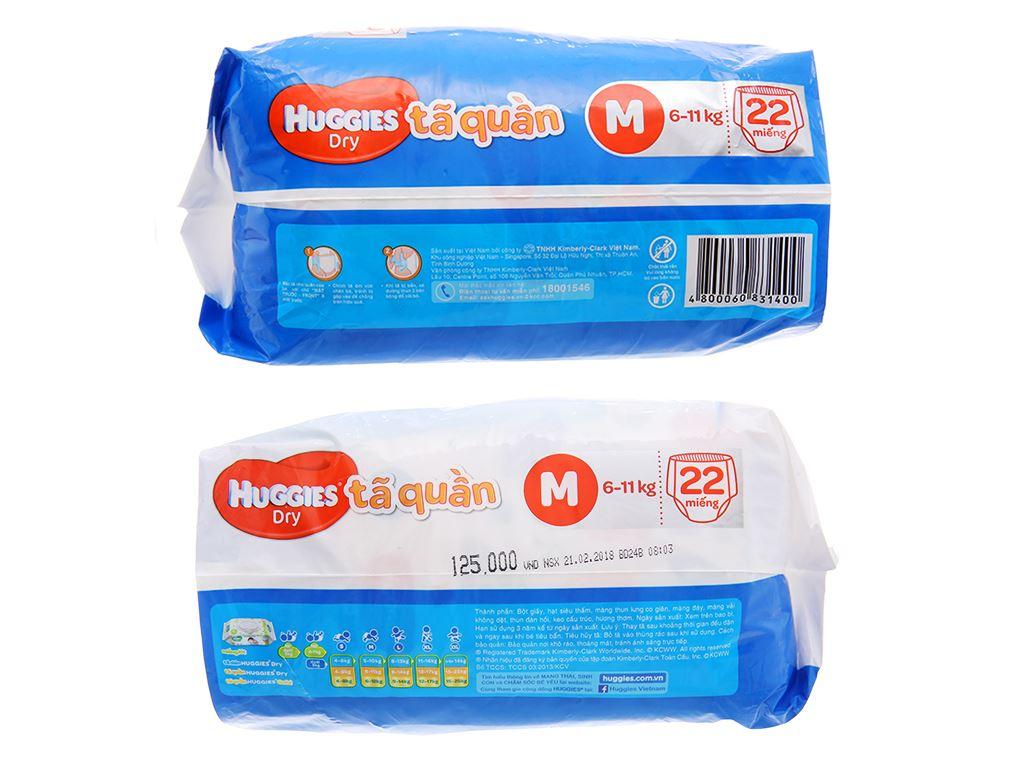 Tã quần Huggies Dry size M 22 miếng (cho bé 6 - 11kg) 3