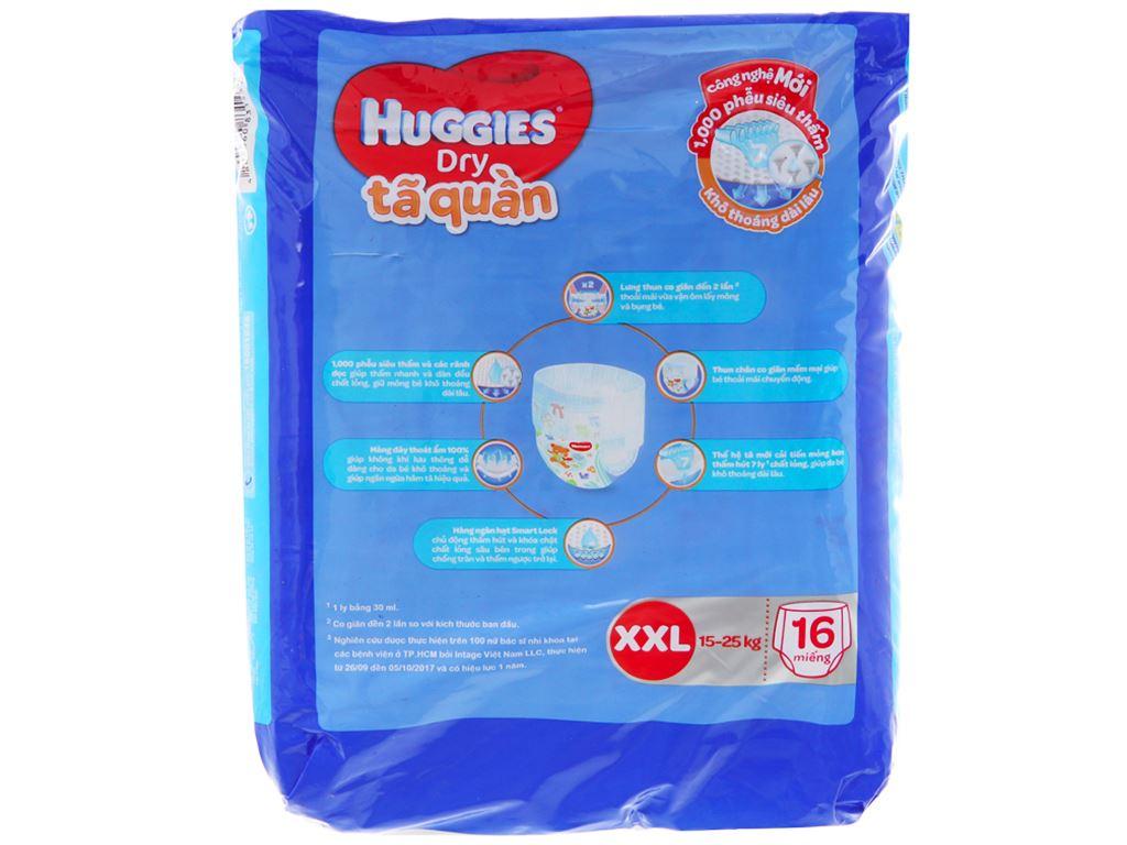 Tã quần Huggies Dry size XXL 16 miếng (cho bé 15 - 25kg) 2