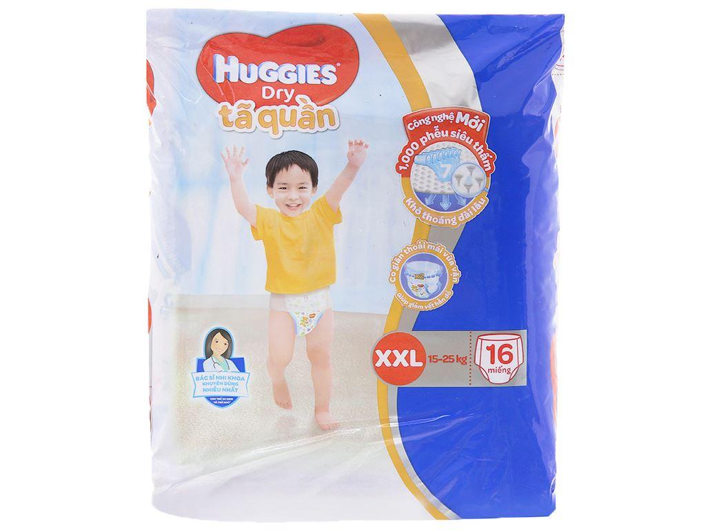 Tã quần Huggies Dry size XXL 16 miếng (cho bé 15 - 25kg) 1