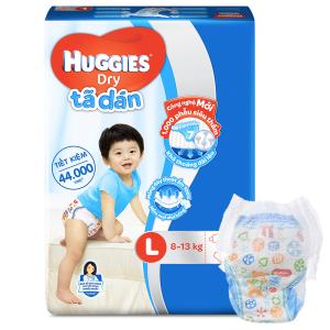 Tã quần Huggies Dry size L 68 miếng (cho bé 9 - 14kg)
