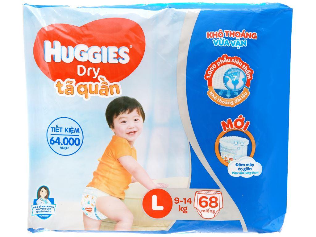 Tã quần Huggies Dry size L 68 miếng (cho bé 9 - 14kg) 1