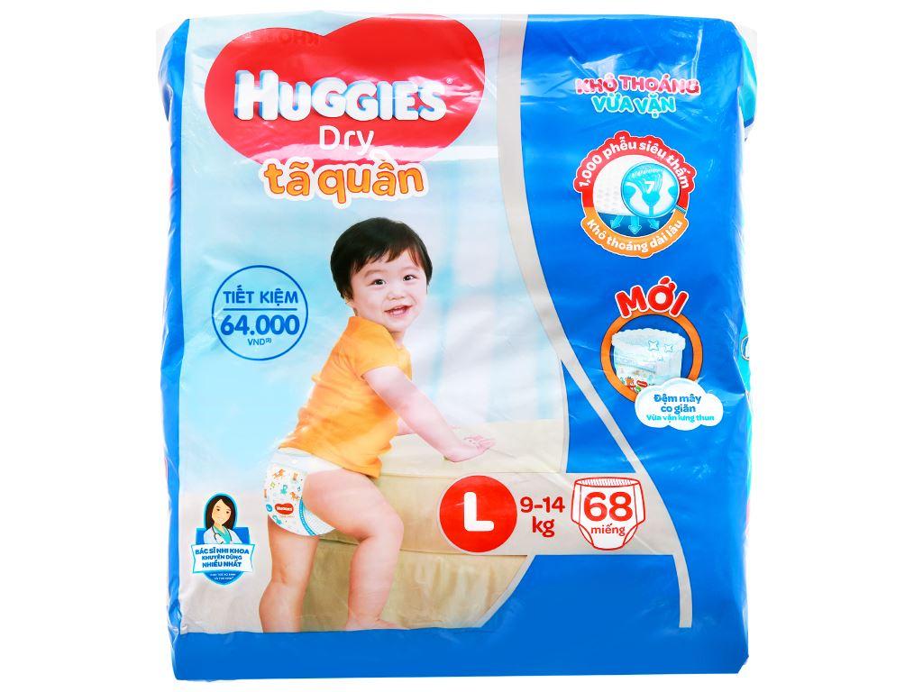 Tã quần Huggies Dry size L 68 miếng (cho bé 9 - 14kg) 2