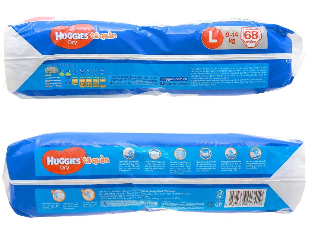 Tã quần Huggies Dry size L 68 miếng (cho bé 9 - 14kg) 3