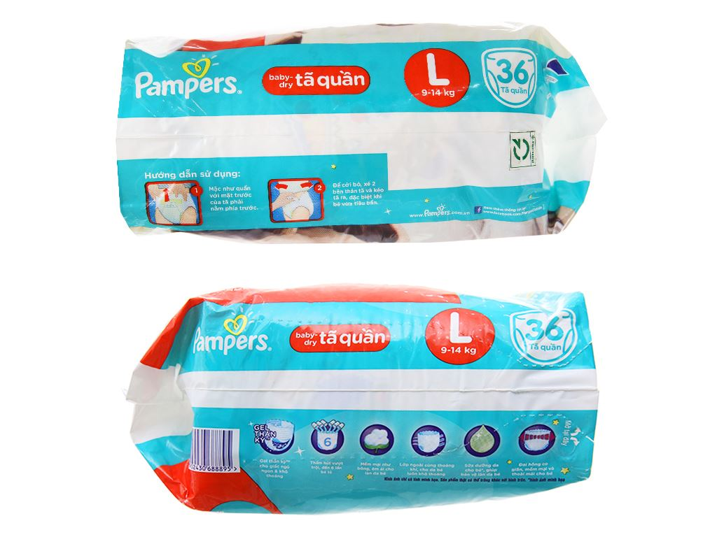 Tã quần Pampers Baby Dry size L 36 miếng (cho bé 9 - 14kg) 3