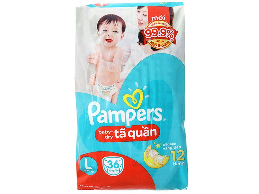 Tã quần Pampers Baby Dry size L 36 miếng (cho bé 9 - 14kg) 1