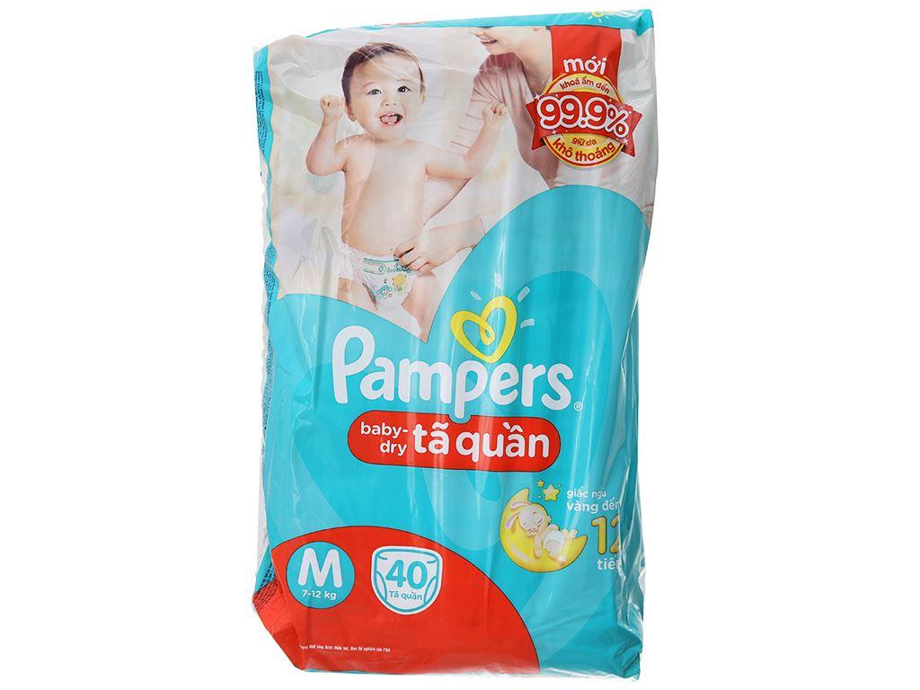 Tã quần Pampers Baby Dry size M 40 miếng (cho bé 7 - 12kg) 1