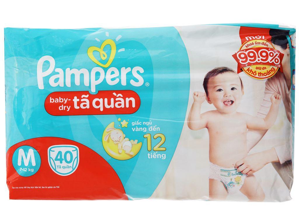 Tã quần Pampers Baby Dry size M 40 miếng (cho bé 7 - 12kg) 2