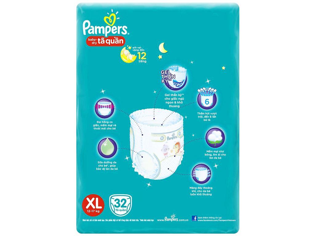 Tã quần Pampers size XL 32 miếng (cho bé 12 - 17kg) 3