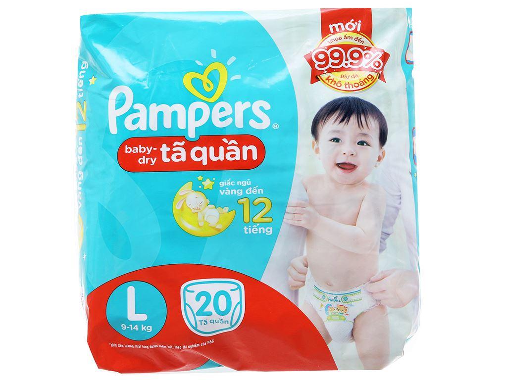 Tã quần Pampers Baby Dry size L 20 miếng (cho bé 9 - 14kg) 1