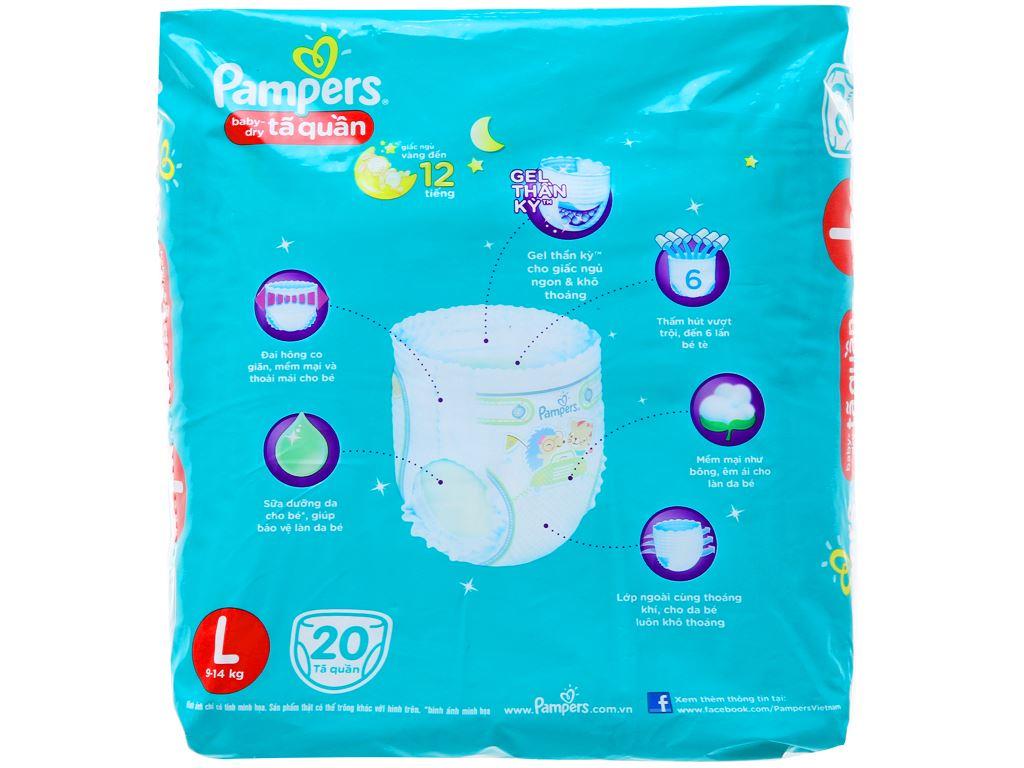 Tã quần Pampers Baby Dry size L 20 miếng (cho bé 9 - 14kg) 2