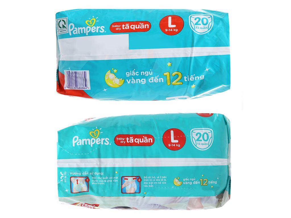 Tã quần Pampers Baby Dry size L 20 miếng (cho bé 9 - 14kg) 3