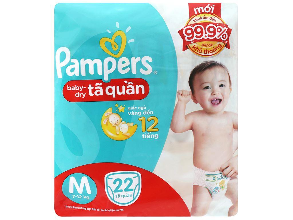 Tã quần Pampers Baby Dry size M 22 miếng (cho bé 7 - 12kg) 1