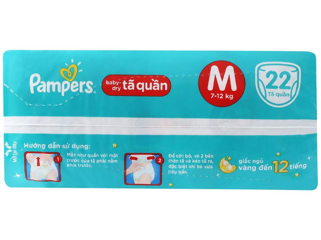 Tã quần Pampers Baby Dry size M 22 miếng (cho bé 7 - 12kg) 2