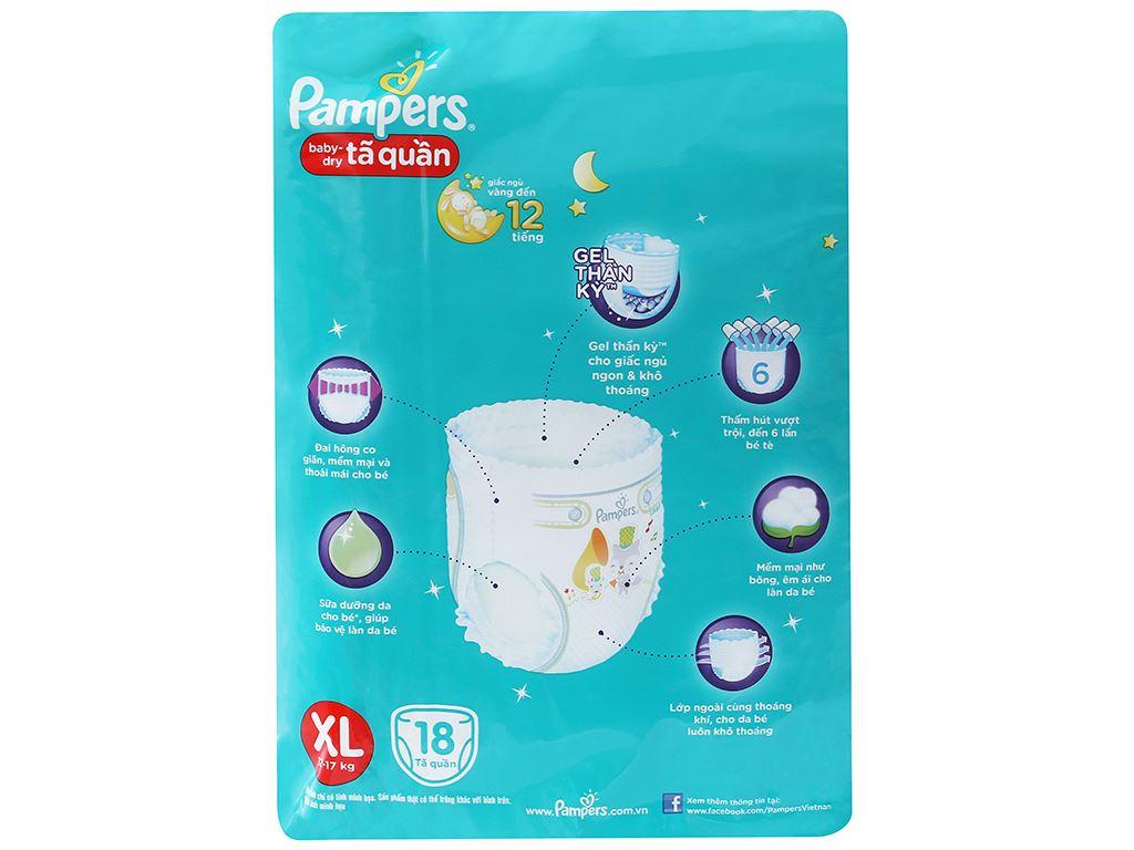 Tã quần Pampers Baby Dry size XL 18 miếng (cho bé 12 - 17kg) 2