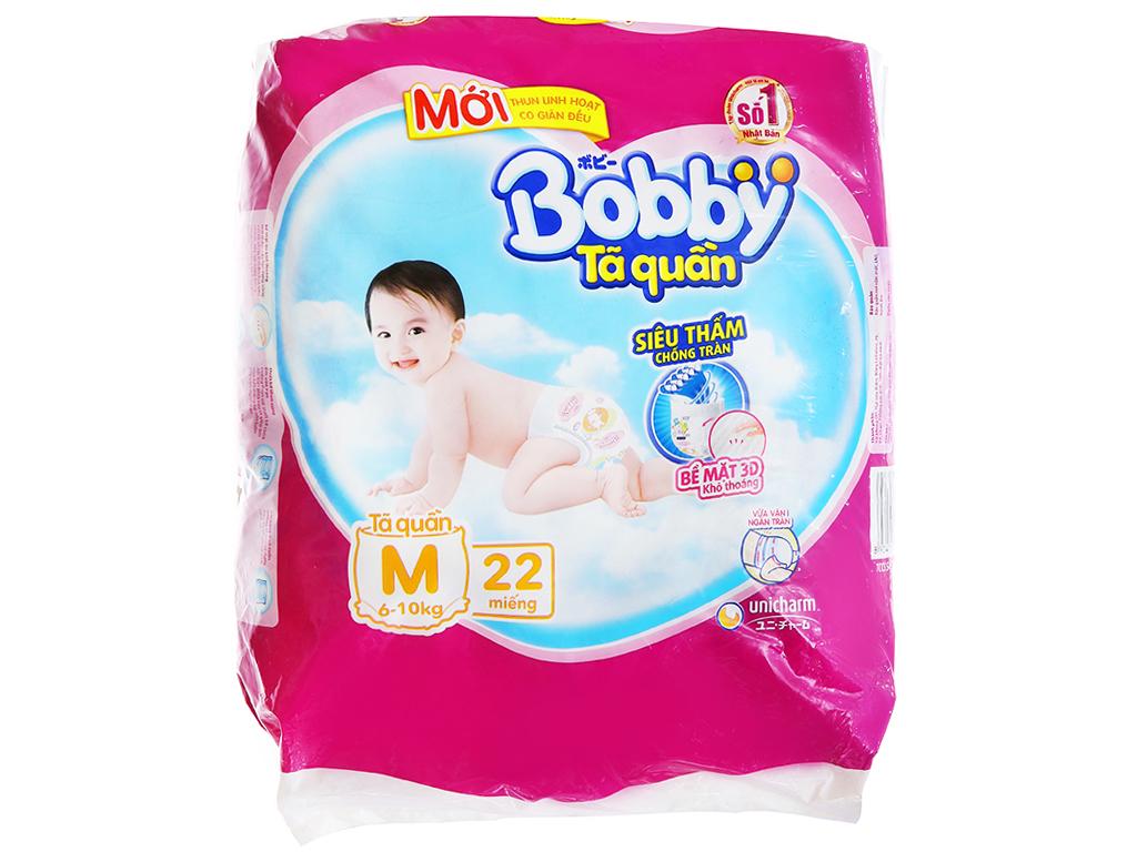 Tã quần Bobby size M 22 miếng (cho bé 6 - 10kg) 1