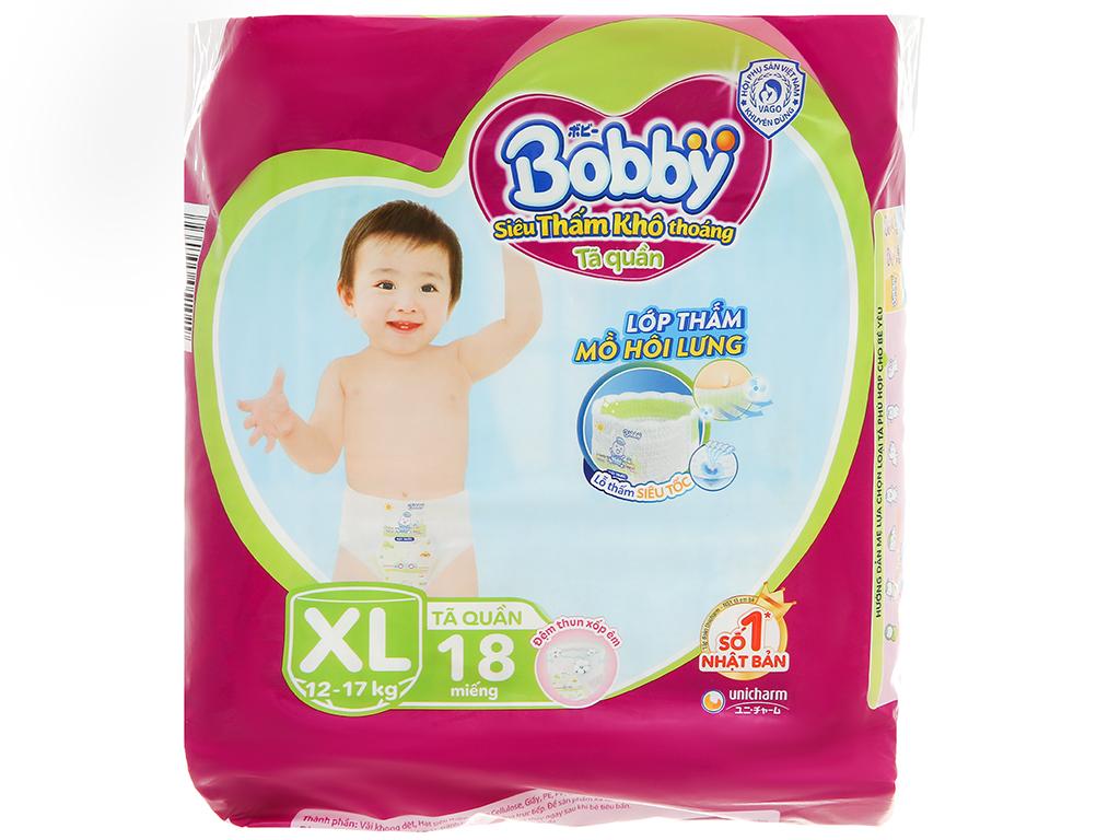 Tã quần Bobby size XL 18 miếng (cho bé 12 - 17kg) 1