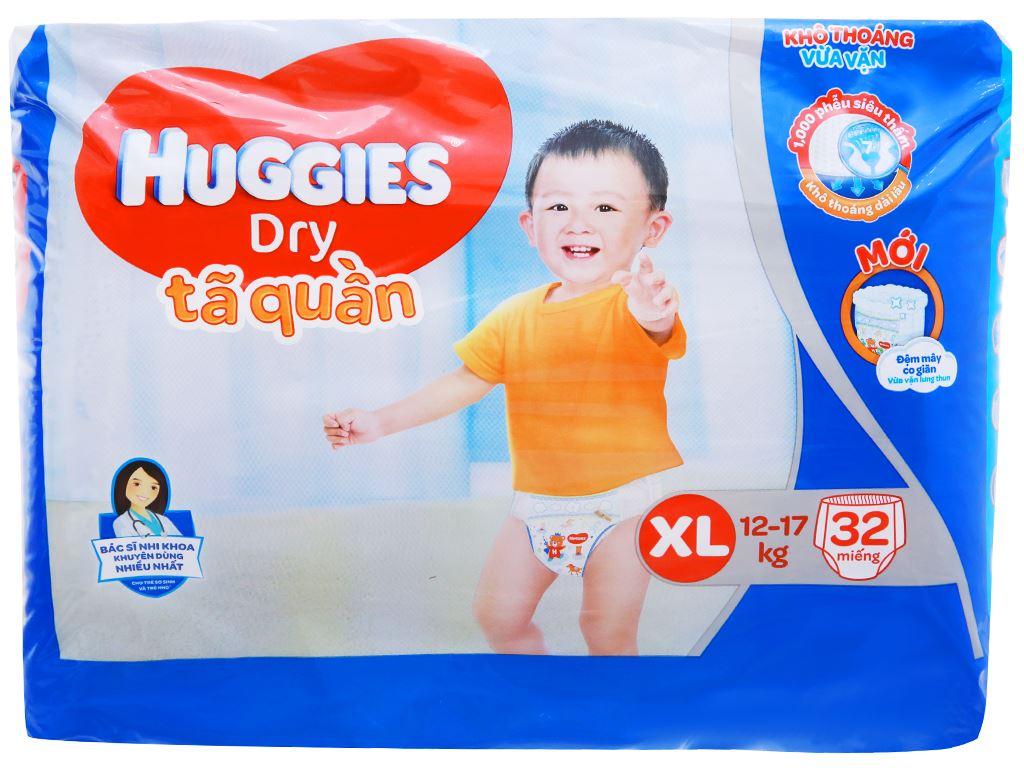 Tã quần Huggies Dry size XL 32 miếng (cho bé 12 - 17kg) 2