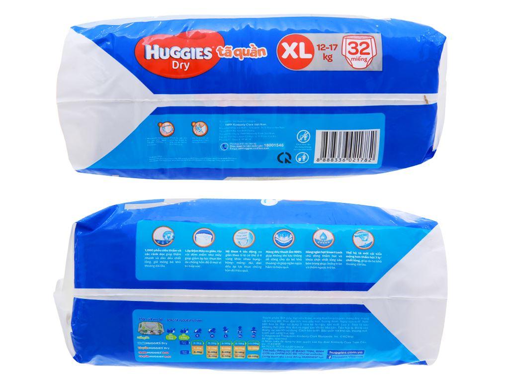 Tã quần Huggies Dry size XL 32 miếng (cho bé 12 - 17kg) 3