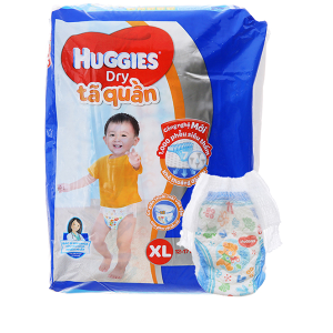 Tã quần Huggies Dry size XL 32 miếng (cho bé 12 - 17kg)