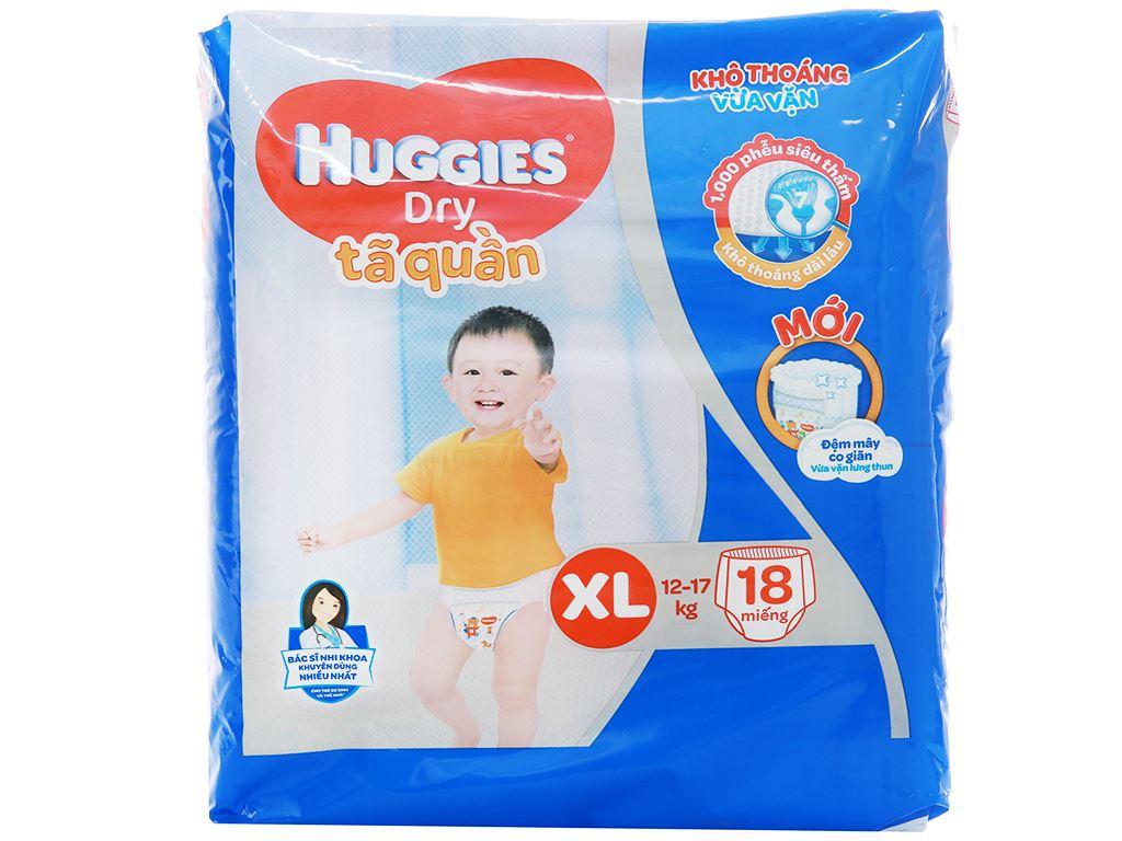 Tã quần Huggies Dry size XL 18 miếng (cho bé 12 - 17kg) 1