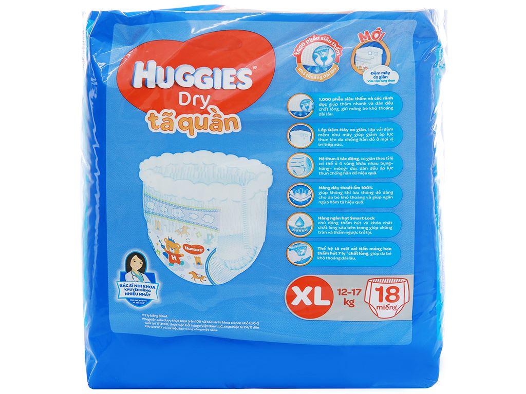Tã quần Huggies Dry size XL 18 miếng (cho bé 12 - 17kg) 2