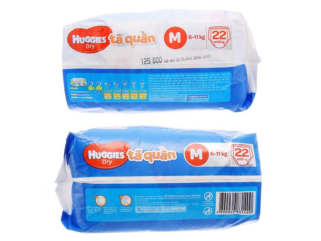 Tã quần Huggies Dry size XL 18 miếng (cho bé 12 - 17kg) 3