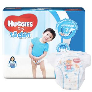 Tã dán Huggies Dry size XXL 30 miếng (cho bé trên 14kg)