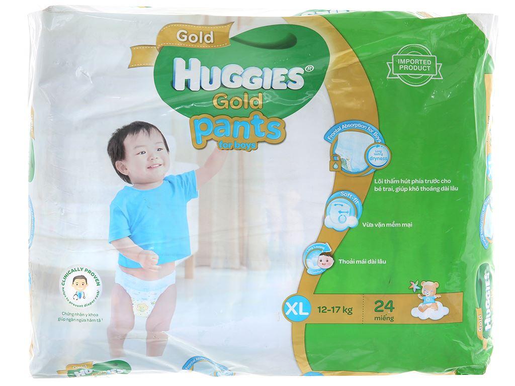 Tã quần Huggies Gold bé trai Size XL 24 miếng (cho bé 12 - 17kg) 2