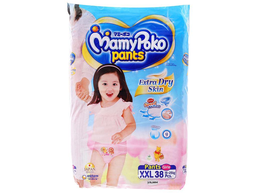 Tã quần Mamypoko Extra Dry Skin bé gái size XXL 38 miếng (cho bé 15 - 25kg) 1