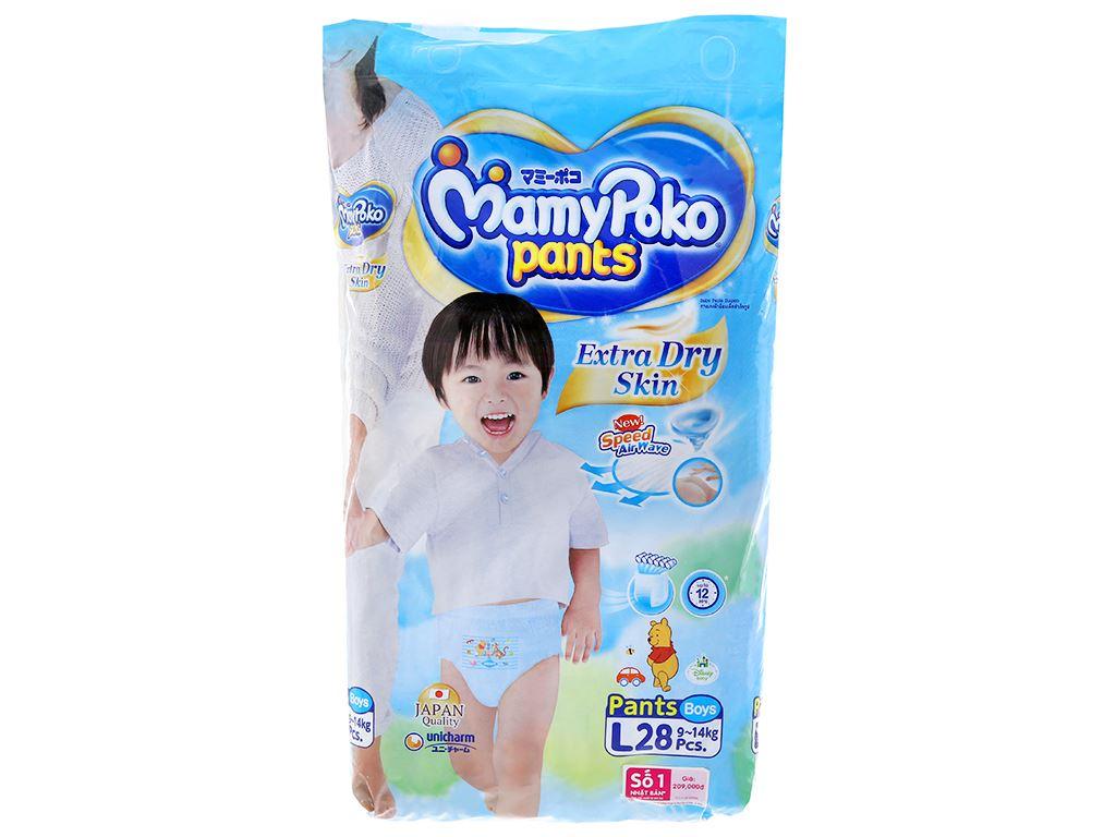 Tã quần Mamypoko Extra Dry Skin bé trai size L 28 miếng (cho bé 9 - 14kg) 1