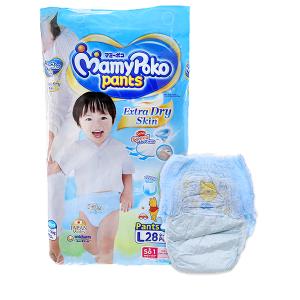 Tã quần Mamypoko Extra Dry Skin size L 28 miếng (cho bé 9 - 14kg)