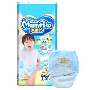 Tã quần Mamypoko Extra Dry Skin bé trai size L 28 miếng (cho bé 9 - 14kg)