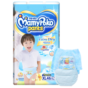 Tã quần Mamypoko Extra Dry Skin bé trai size XL 46 miếng (cho bé 12 - 17kg)