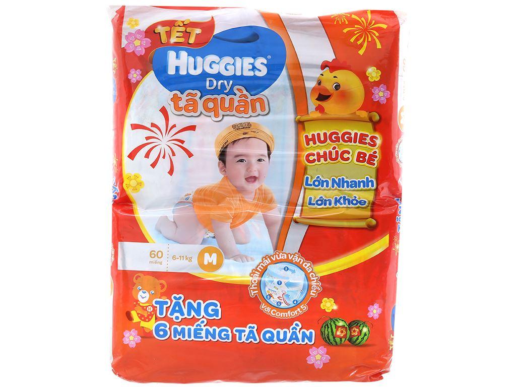 Tã quần Huggies Dry size M 60 miếng (cho bé 6 - 11kg) 2
