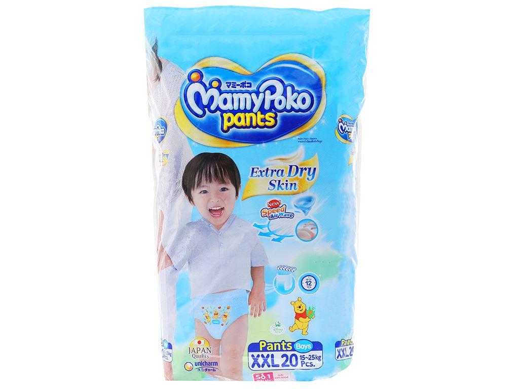 Tã quần Mamypoko Extra Dry Skin bé trai size XXL 20 miếng (cho bé 15 - 25kg) 1