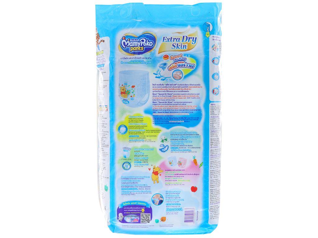 Tã quần Mamypoko Extra Dry Skin bé trai size XXL 20 miếng (cho bé 15 - 25kg) 2